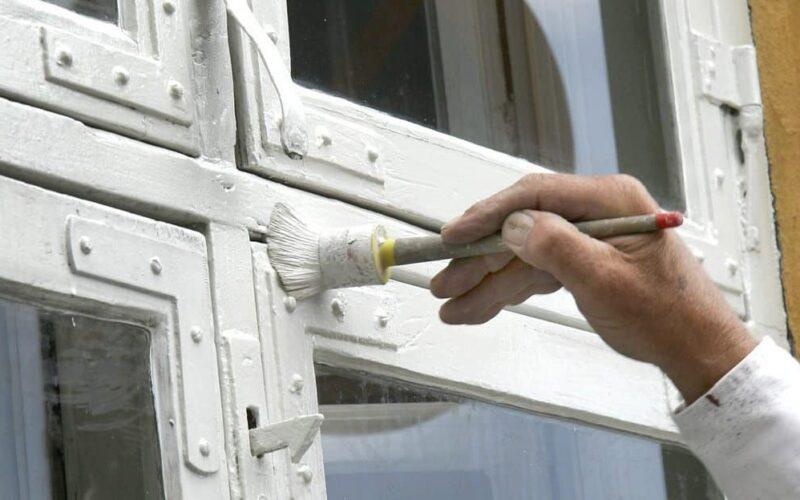 udvendig maling vindue
